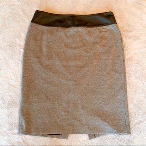 Vince Camuto Houndstooth Pencil Skirt Black 10